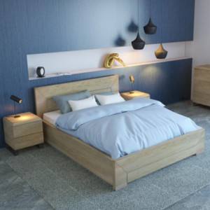 Łóżko drewniane Lund Plus Ekodom