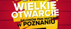 Otwarcie salonów Pan Materac w Poznaniu